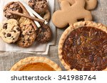 assorted holiday desserts... | Shutterstock . vector #341988764