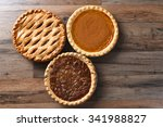 thanksgiving desserts on a wood ... | Shutterstock . vector #341988827