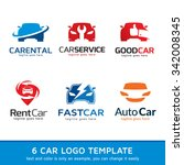 automotive car logo template... | Shutterstock .eps vector #342008345
