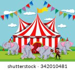elephant show at the circus...