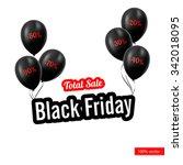 vector. black friday. black... | Shutterstock .eps vector #342018095