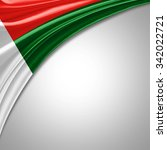 madagascar flag   of  silk with ... | Shutterstock . vector #342022721
