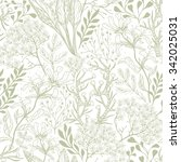 vector floral seamless pattern ... | Shutterstock .eps vector #342025031