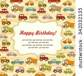 colorful baby shower background ... | Shutterstock . vector #342032135