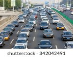 Modern City Traffic Jam In The...