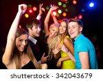 young people having fun dancing ... | Shutterstock . vector #342043679