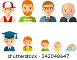 set of european age group... | Shutterstock .eps vector #342048647