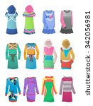 sporting and casual dresses... | Shutterstock .eps vector #342056981