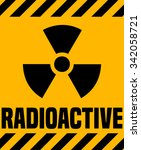 radioactive warning sign ... | Shutterstock .eps vector #342058721