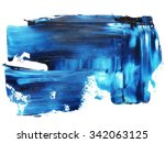 photo blue grunge brush strokes ... | Shutterstock . vector #342063125