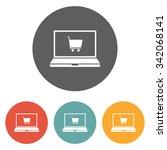 e shopping icon | Shutterstock .eps vector #342068141