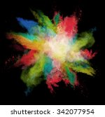 freeze motion of colored dust... | Shutterstock . vector #342077954