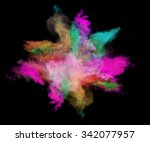 freeze motion of colored dust... | Shutterstock . vector #342077957