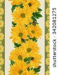 floral border vertical  pattern ...   Shutterstock . vector #342081275