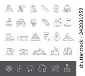 line icons   winter | Shutterstock .eps vector #342081959