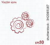 vector icon pinion  | Shutterstock .eps vector #342085187