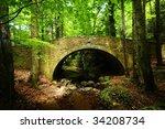 Old Stone Bridge Across Small...