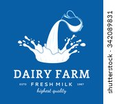 milk logo template. milk label... | Shutterstock .eps vector #342089831