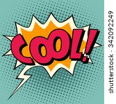 cool comic book bubble text pop ... | Shutterstock .eps vector #342092249