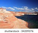 glen canyon dam on the colorado ... | Shutterstock . vector #34209376