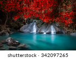 jungle landscape with flowing... | Shutterstock . vector #342097265
