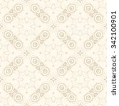 seamless geometric ornament on... | Shutterstock .eps vector #342100901