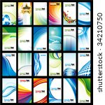 vector abstract business card... | Shutterstock .eps vector #34210750
