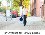 full length portrait of happy... | Shutterstock . vector #342112061