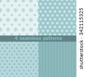 4 seamless patterns with... | Shutterstock .eps vector #342115325