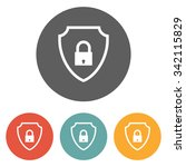 shield lock icon | Shutterstock .eps vector #342115829