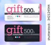 gift voucher template with... | Shutterstock .eps vector #342124544