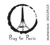 pray for paris  13 november... | Shutterstock .eps vector #342139115
