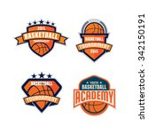 basketball logo template... | Shutterstock .eps vector #342150191