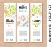 Set Of Banners With Organic...