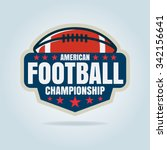 american football logo template ... | Shutterstock .eps vector #342156641
