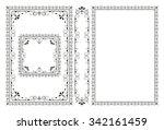 vector classical book cover.... | Shutterstock .eps vector #342161459