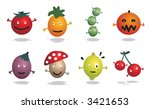cartoon characters   food  ... | Shutterstock .eps vector #3421653