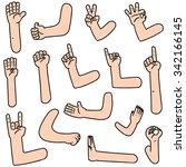vector set of cartoon arm | Shutterstock .eps vector #342166145