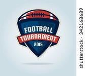 american football logo template ... | Shutterstock .eps vector #342168689