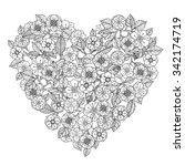 hand drawing zentangle element. ... | Shutterstock .eps vector #342174719