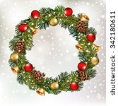 christmas background with... | Shutterstock .eps vector #342180611