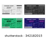 set of colorful concert tickets ... | Shutterstock .eps vector #342182015