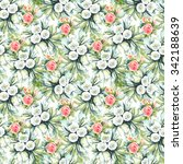 watercolor seamless pattern... | Shutterstock . vector #342188639