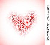 valentine day halftone...   Shutterstock .eps vector #342193091