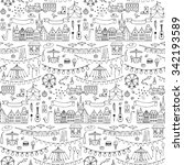 seamless hand drawn pattern... | Shutterstock .eps vector #342193589