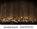 Christmas Lights On Shelf In...