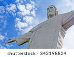 famous christ the redeemer in... | Shutterstock . vector #342198824