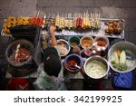 top view of a thai street food... | Shutterstock . vector #342199925