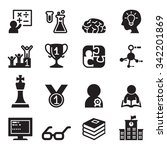 genius   smart icons set vector ... | Shutterstock .eps vector #342201869