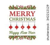 christmas greetings design   Shutterstock .eps vector #342212129